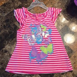 Size 4t pink striped butterfly top!